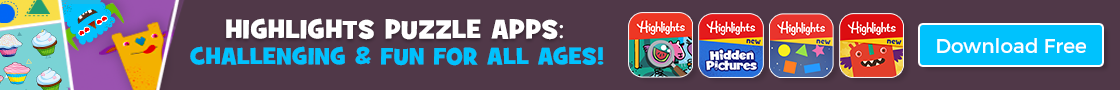 Highlights puzzle apps are challenging & fun for all ages!