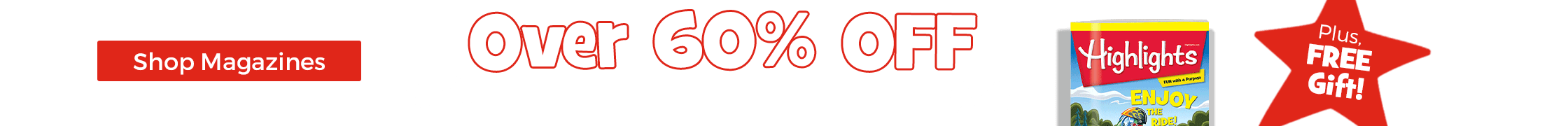 Save over 60% on award-winning magazines, plus get a free gift!