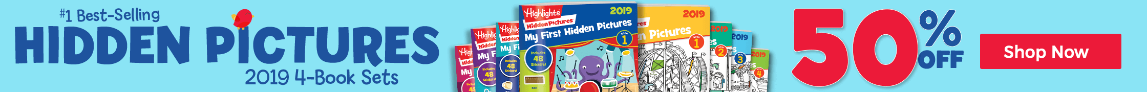 Hidden Pictures 2019 4-Book Sets are 50% off
