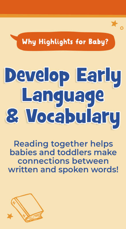 Early reading helps baby develop early language and literacy, making connections between written and spoken words.
