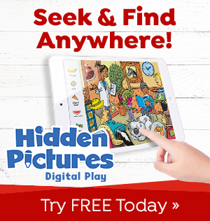 Try Hidden Pictures Digital Play for FREE and you can seek & find fun anywhere!
