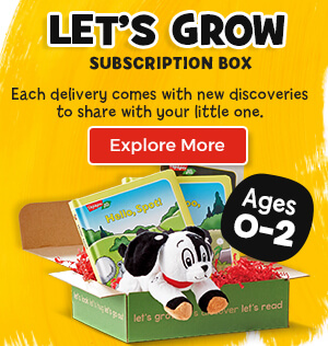 Let's Grow subscription boxes come with new discoveries for you and your child, ages zero to two.