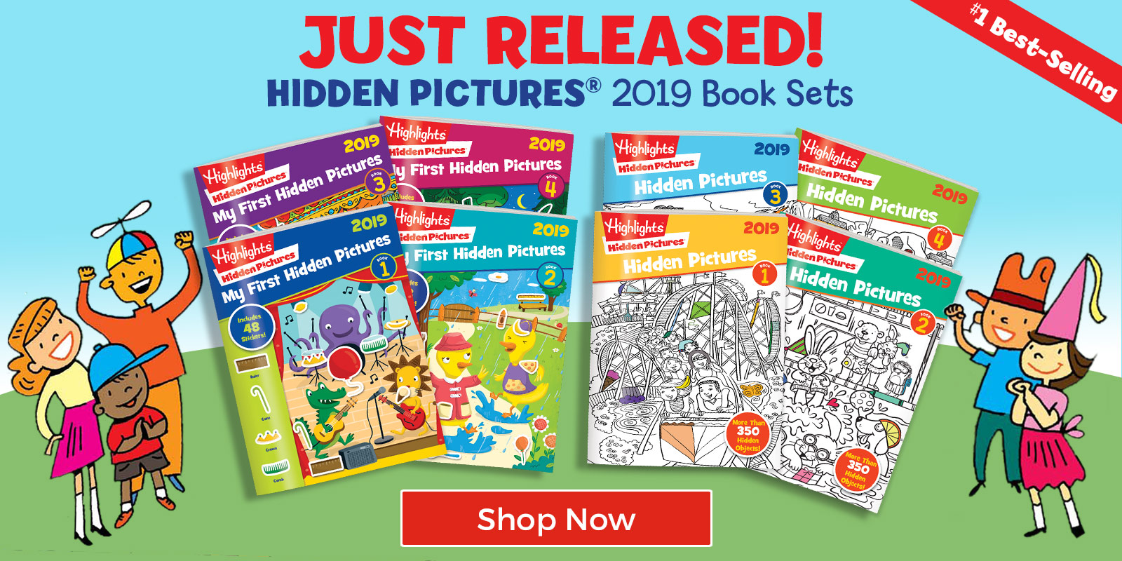 Just Released! #1 Best-Selling Hidden Pictures 2019 Book Sets