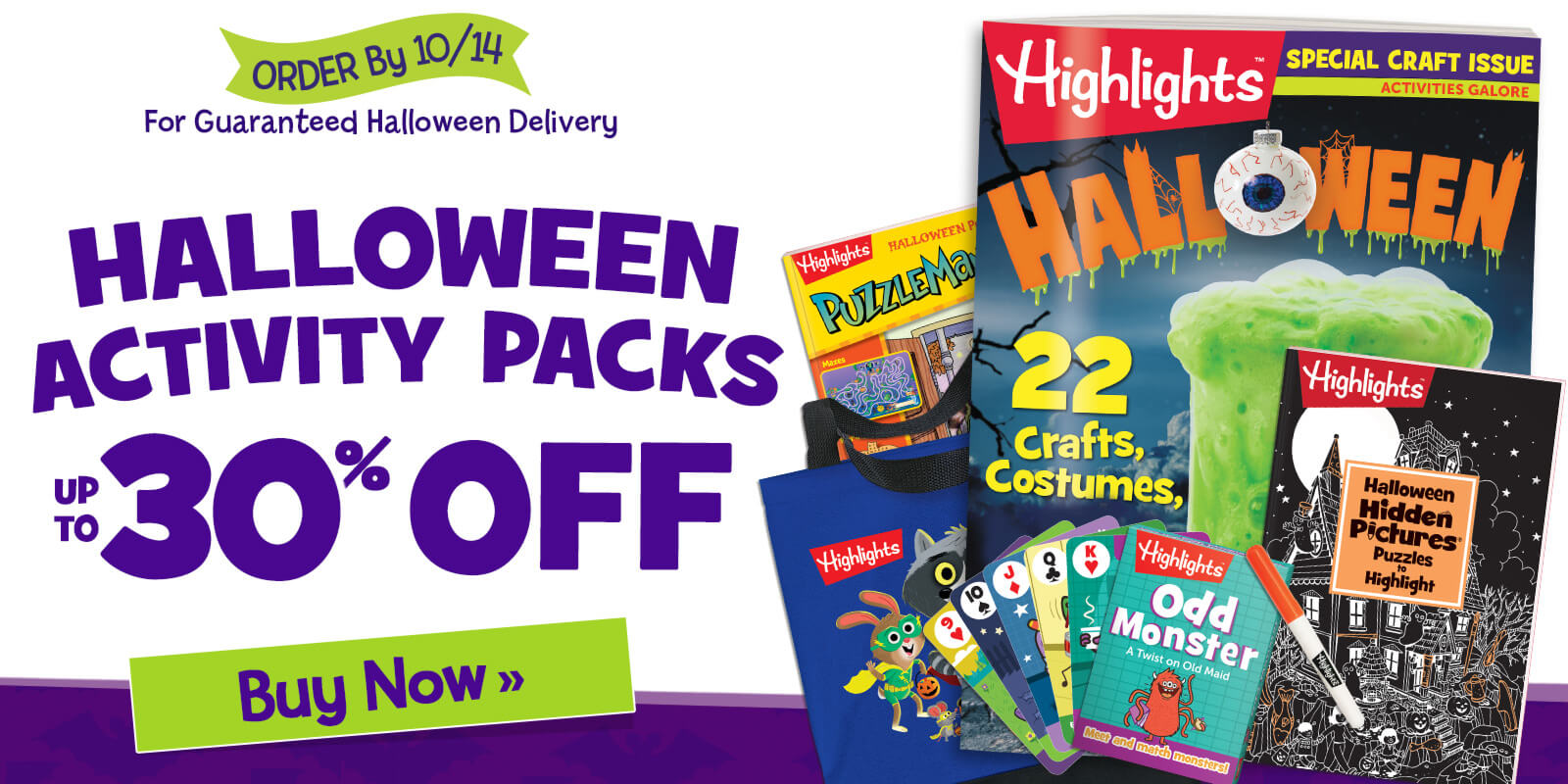 Halloween Activity Packs are up to 30% OFF – order now for Halloween delivery.