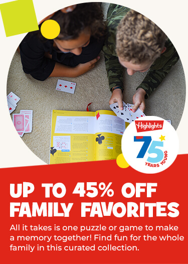 Save up to 45% on puzzles and games for all ages – all it takes is one to make a memory together!
