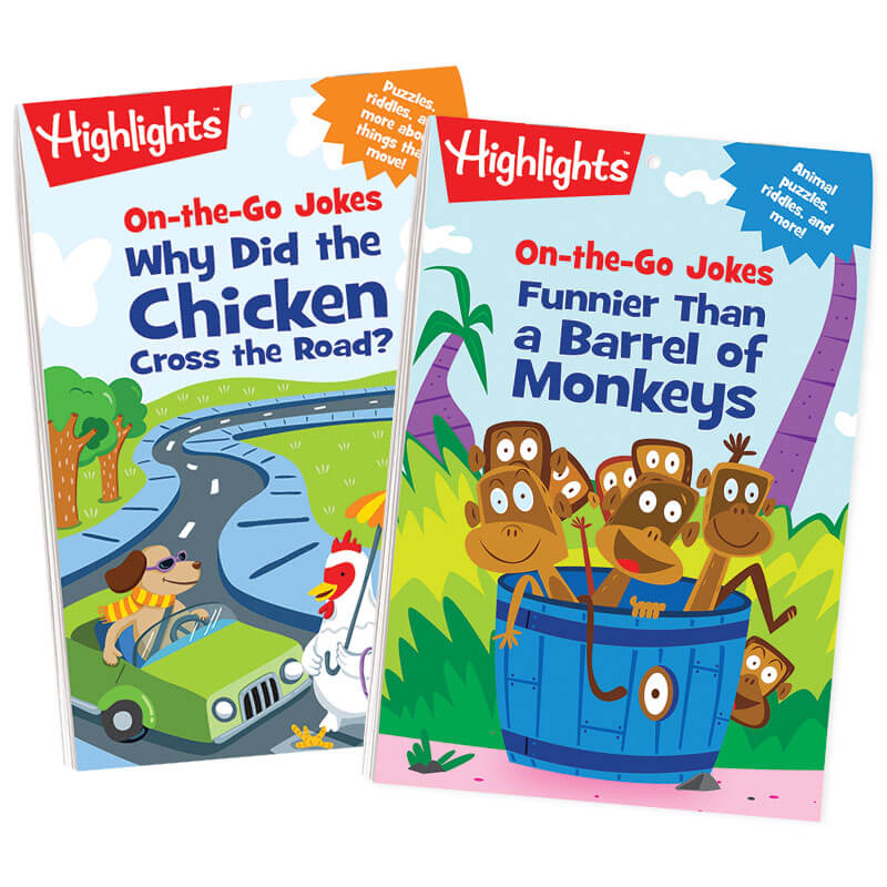 On-the-Go Jokes Puzzle Pads Set of 2