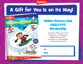 Eagle Eye Certificate Holiday Gift Announcement