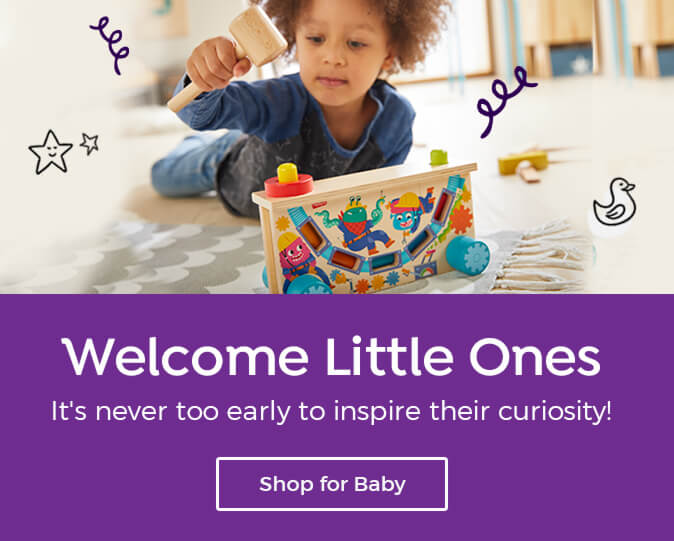 Highlights gifts are perfect for new arrivals – shop our collection for babies to 2 years old.