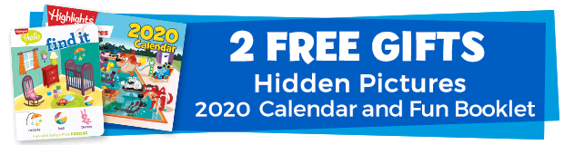 "2 Free Gifts including Hidden Pictures Calendar and ""Find-it"" Activities"