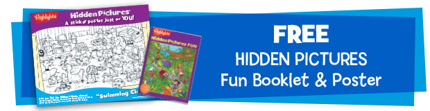 2 Free gifts including Hidden Pictures Poster and Fun Booklet