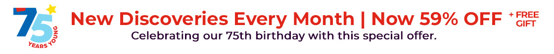 59% OFF magazines + free gift – celebrating our 75th birthday with this special offer.