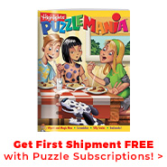 Get your first shipment free with a puzzle book club!