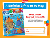 Puzzlemania Certificate Birthday Gift Announcement