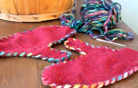 stitch a pair of mittens