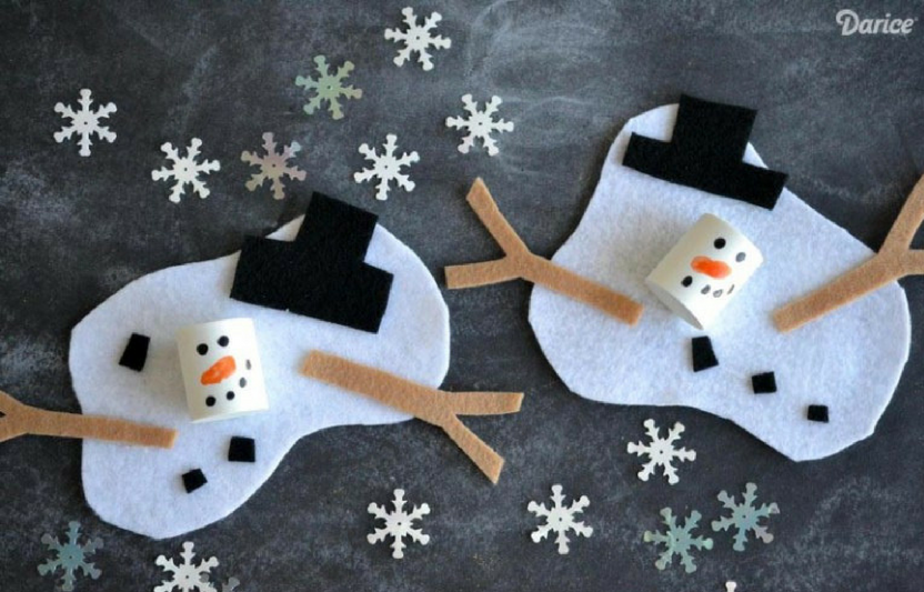 You're sure to get some giggles out of your little ones when they create their own silly melted snowmen.