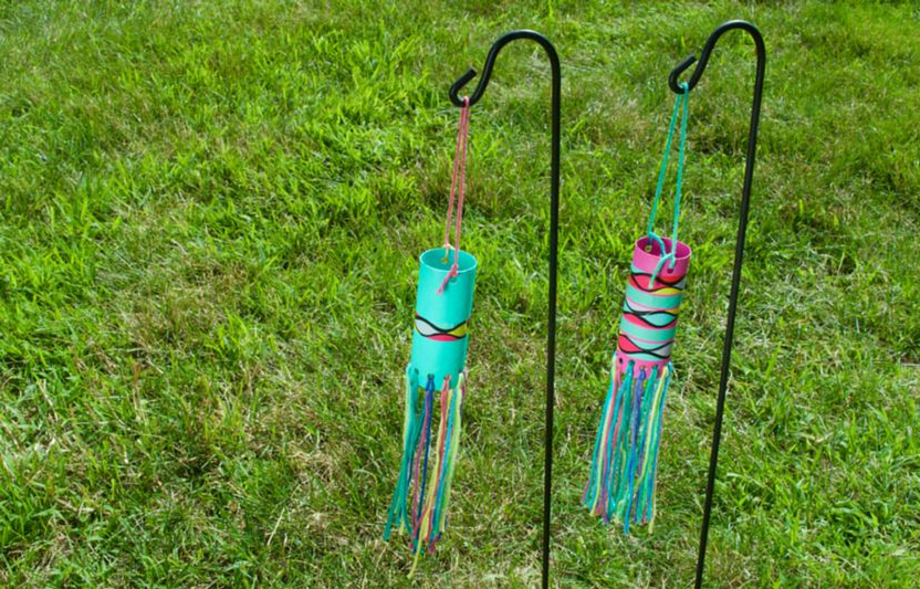Ideal for spring winds, this craft is made with materials you already have at home.