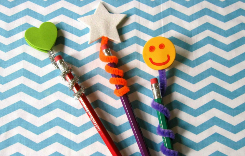 Decorate your pencils with friendly and fun pencil toppers.