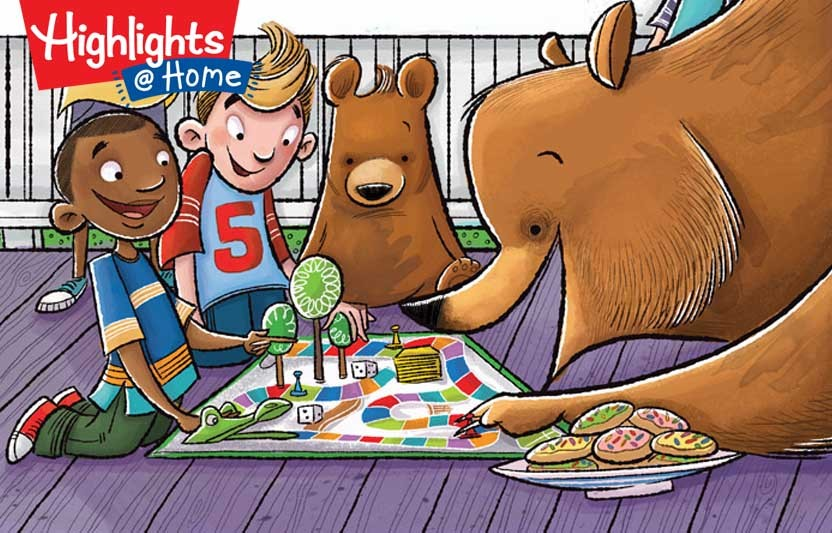 bears doing a puzzle