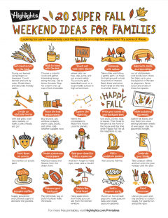20 Fall Weekend Ideas for Families Printable