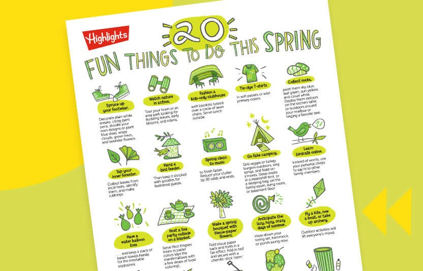 20 Fun Things to do This Spring Printable