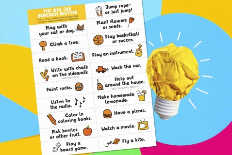 The Idea Jar Boredom Busters Printable