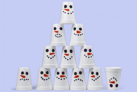 Snowman Stacking Cups