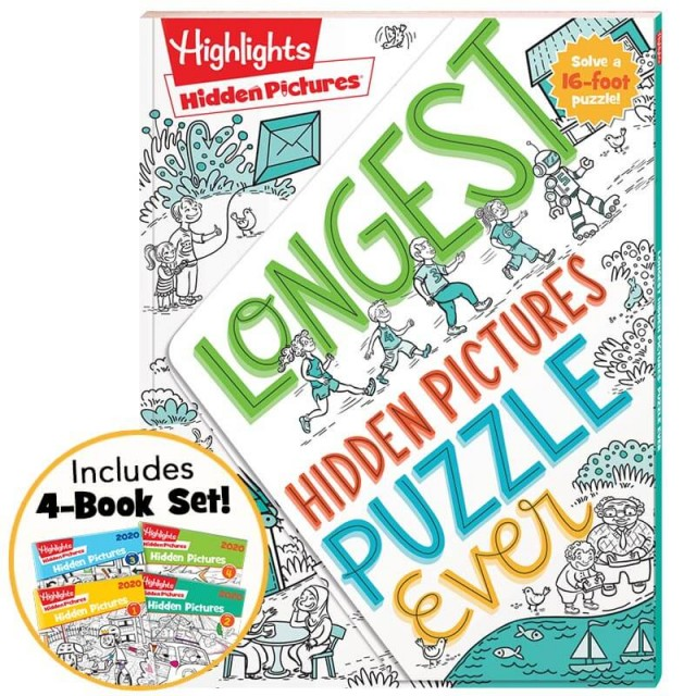 Longest Hidden Pictures Puzzle Ever + Hidden Pictures 2020 4-Book Set