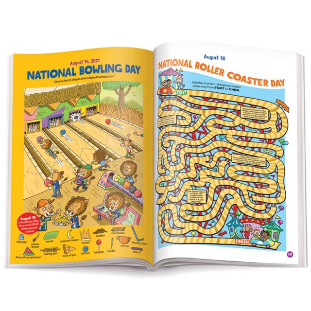 Puzzles that honor National Bowling Day and National Roller Coaster Day