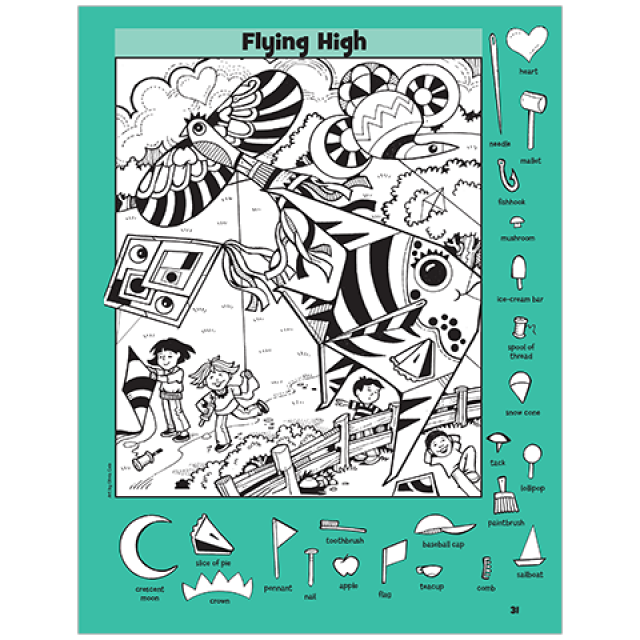 Flying High Hidden Pictures Puzzle