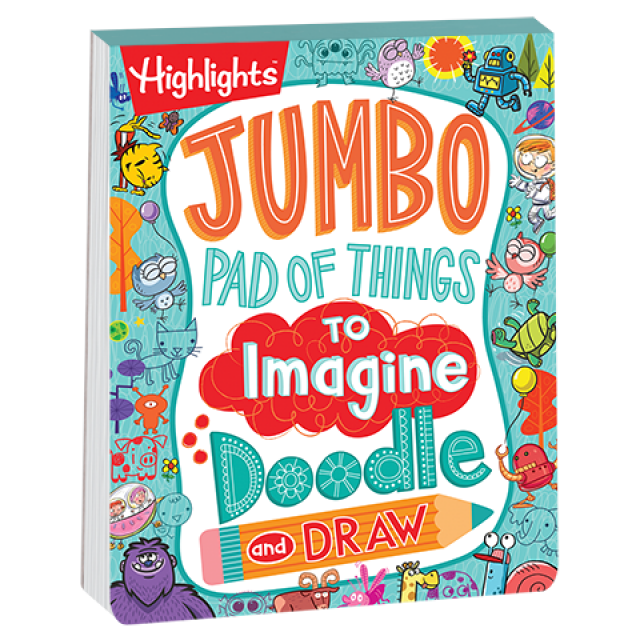 Jumbo Pad of Things to Imagine, Doodle, and Draw