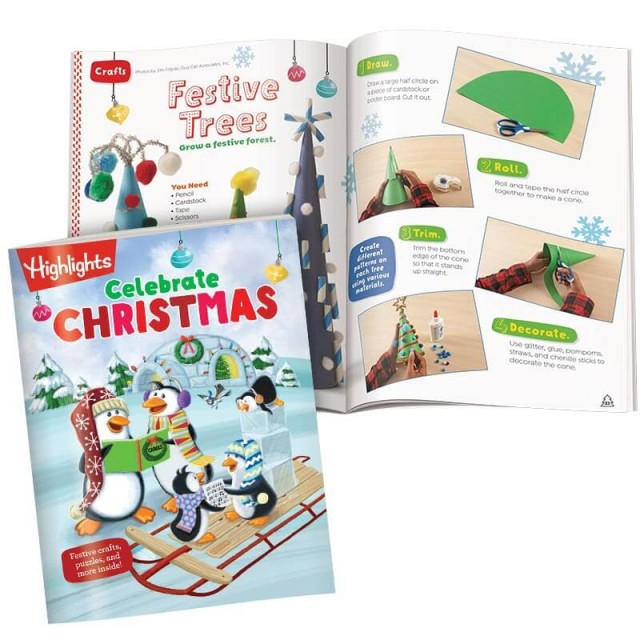 Celebrate Christmas book and holiday craft page