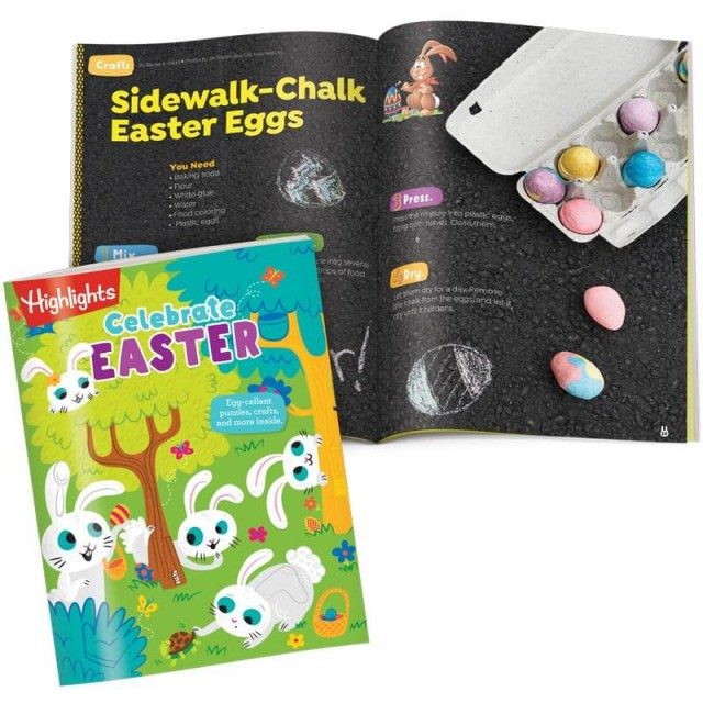 Celebrate Easter book and craft for making sidewalk chalk