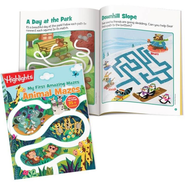 My First Amazing Mazes: Animal Mazes book plus 2 puzzles set in a park and a snowy scene