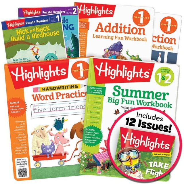Summer Learning Pack 1-2 includes 6 books plus a magazine subscription