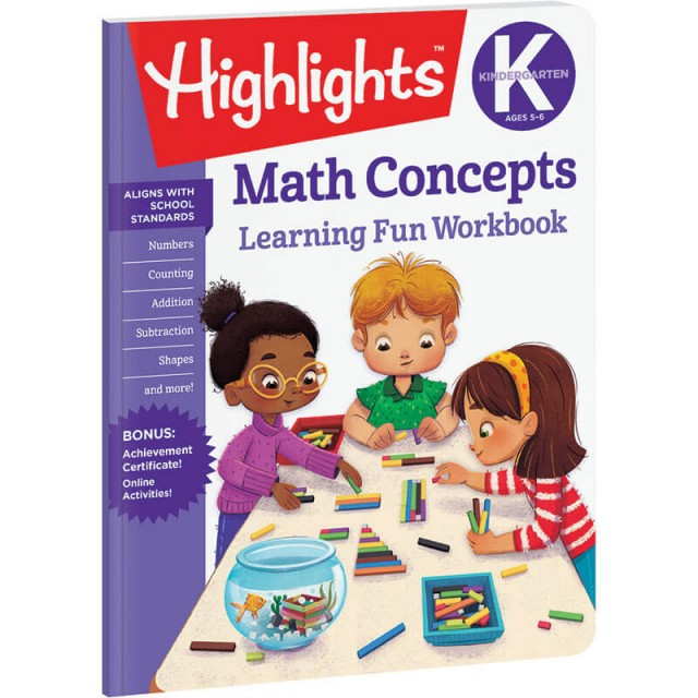 Kindergarten Learning Fun Workbook: Math Concepts