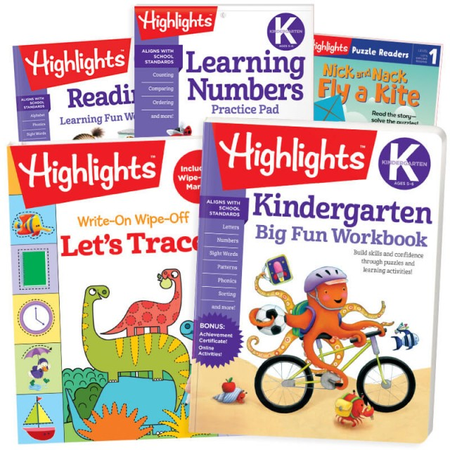 Back-to-School Success Pack, Kindergarten with 5 books