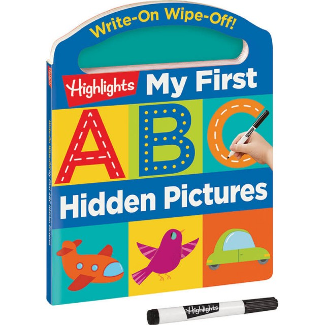 Write-On Wipe-Off My First ABC Hidden Pictures book with dry-erase marker