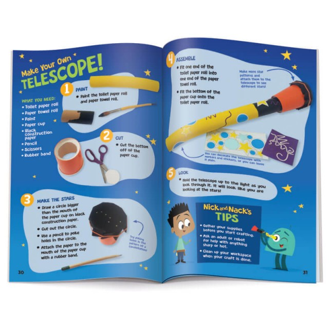 Instructions for STEM activity, building a telescope from household materials