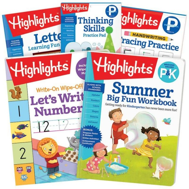 Summer Learning Pack P-K includes 5 books