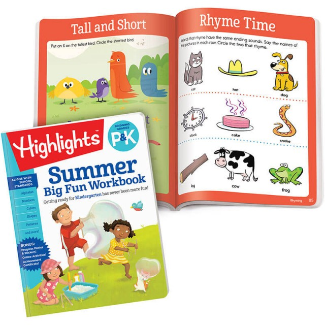 Summer Big Fun Workbook and a page with two lessons