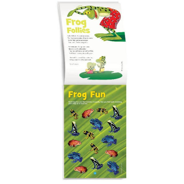 Frog matching game and poem