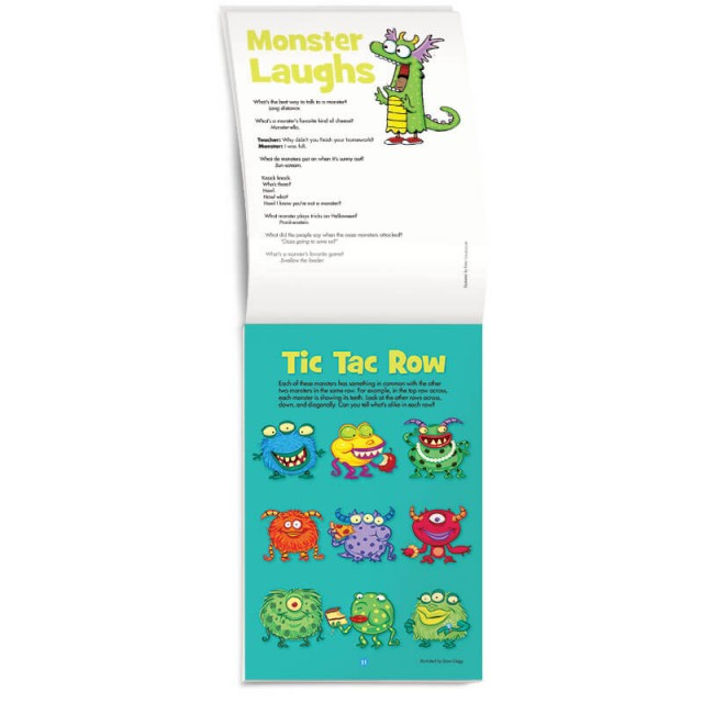 Tic Tac Row game and monster jokes