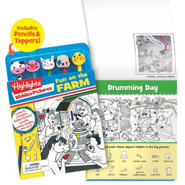 Pencil toppers and puzzle book set