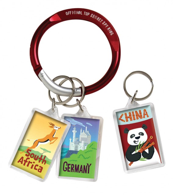 Official spy ring and collectible mission tags
