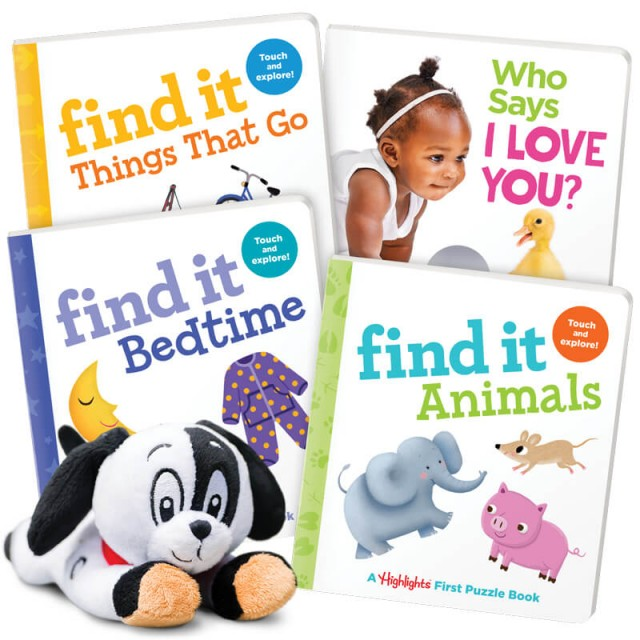 Summer Fun Gift Set for Ages 0-3 with 4 books and plush toy