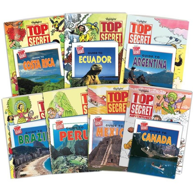 Top Secret Adventures: The Americas Collection, includes 7 country kits