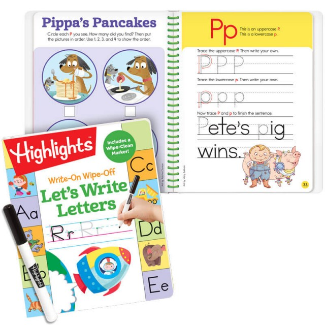 Let's Write Letters and page of practice for letter P