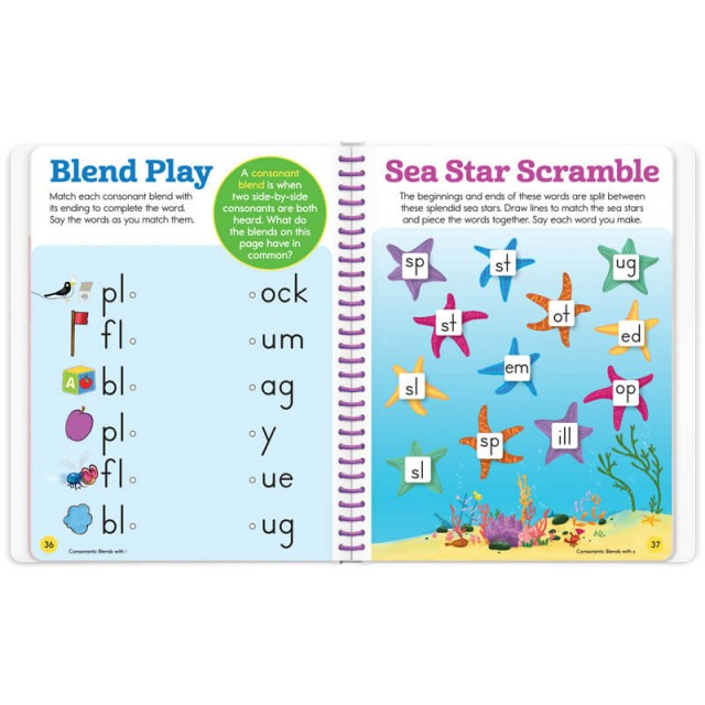 A lesson for consonant blends and a starfish puzzle