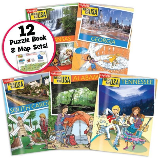 Which Way USA: Southeast States Collection includes 12 state sets, 5 shown here