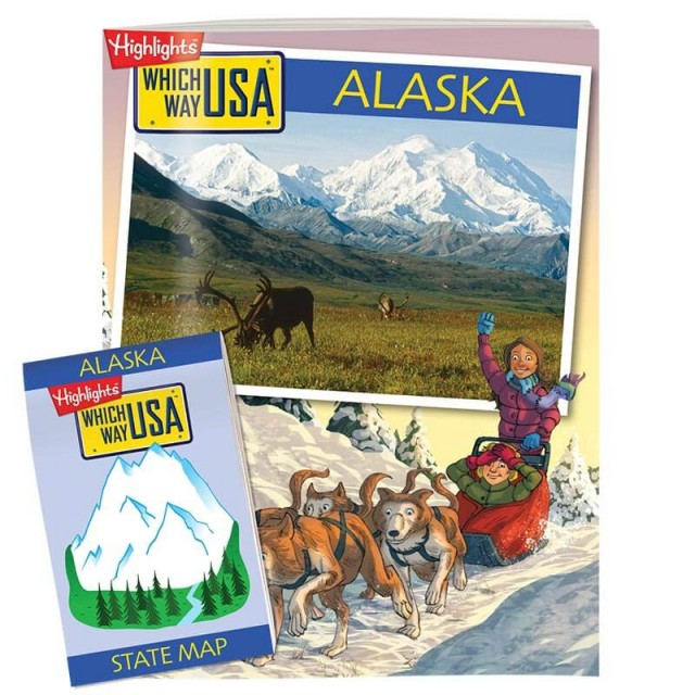 The Alaska state puzzle book and folded map
